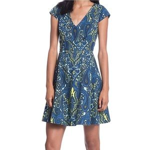 Plenty Tracy Reese Melanie Paisley Flare Dress 12